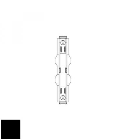 Electrical straight joint for MM track - black