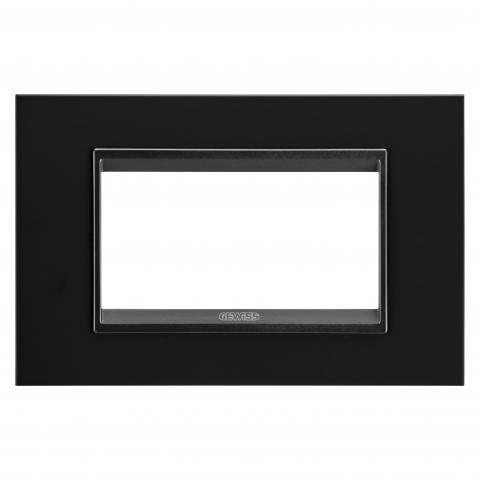 Рамка LUX 4 модула - метал - Monochrome Black