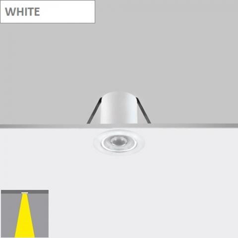 Фиксирана луна Ra 4 с леща - LED 2W - бяла