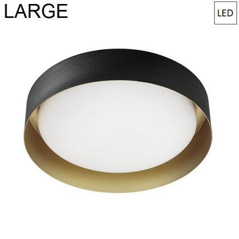 Плафон Ø402mm LED 22W 3000K черно/злато