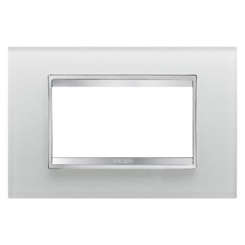 Рамка LUX 4 модула - стъкло - Ice