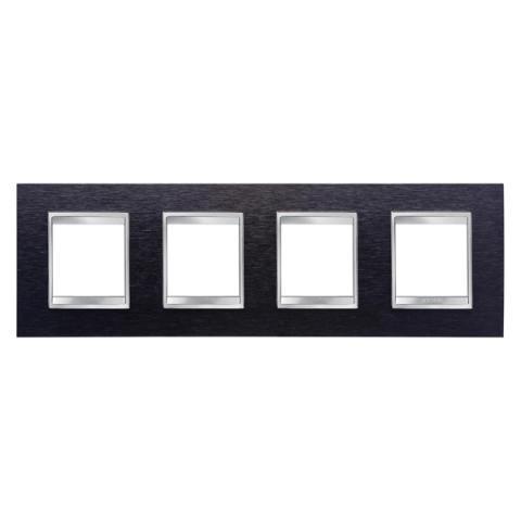 Рамка LUX International 2+2+2+2 хоризонтална - Black Aluminium