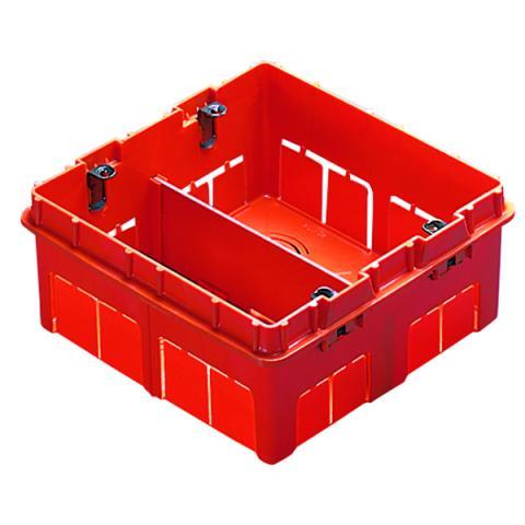 Rectangular box 4+4 gang for masonry walls