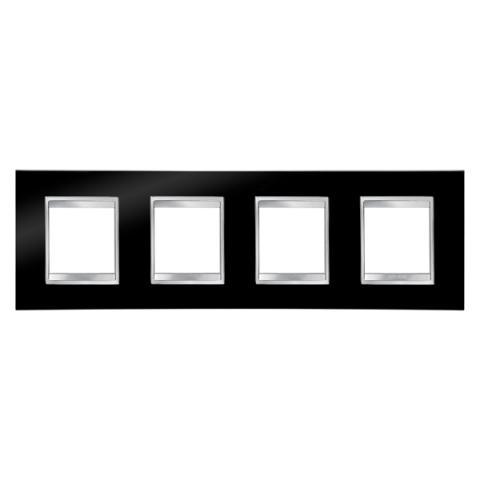 Рамка LUX International 2+2+2+2 хоризонтална - Toner Black