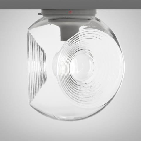 Wall/ceiling lamp Ø35cm E27 Transparent