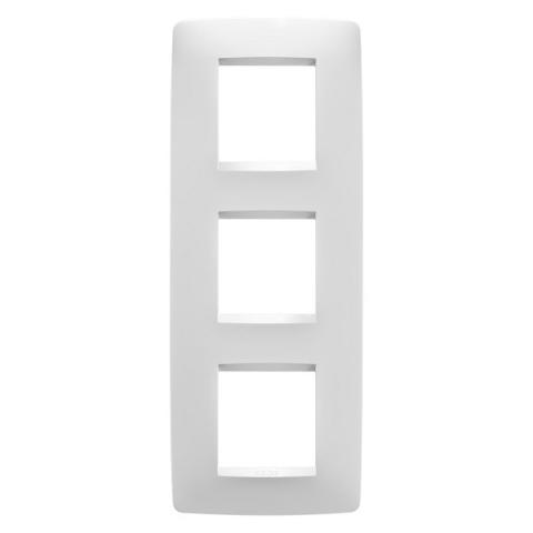 Рамка ONE International 2+2+2 вертикална - Milk White