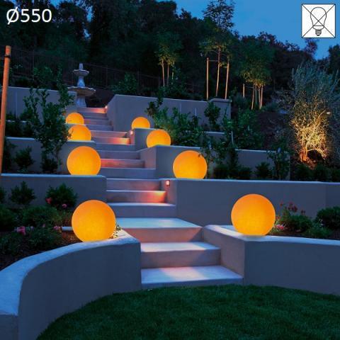 Garden floor-lamp Ø550 E27 max 46W amber