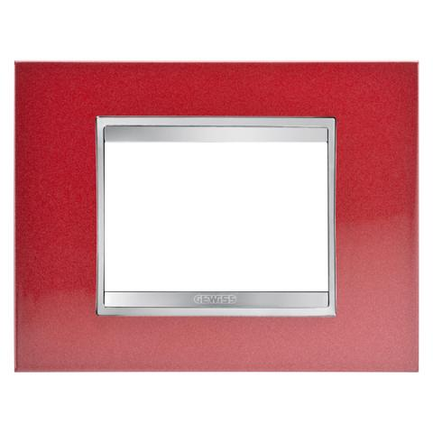 Рамка LUX 3 модула - Метал - Glamour Red