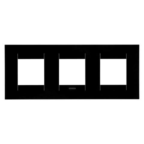 GEO International 2+2+2 gang horizontal plate - Toner Black