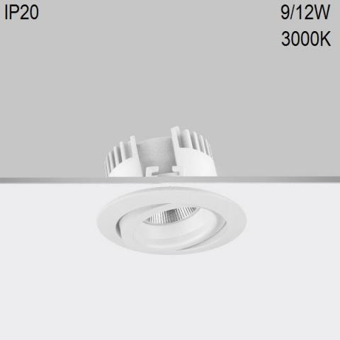 Adjustable downlight RA 8 DIXIT LED 9/12W 3000K CRI80 IP20