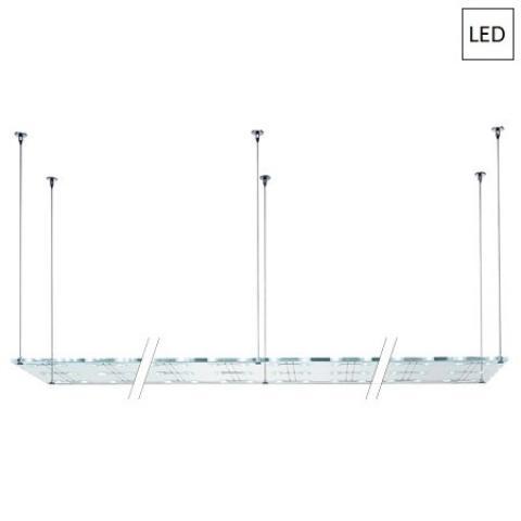 Пендел 300x50cm 72x3W G4 LED прозрачен