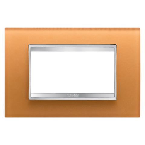 Рамка LUX 4 модула - стъкло - Ochre