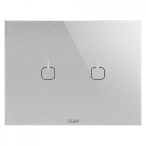 Plate ICE TOUCH - 2 Symbols - Glass - Titanium