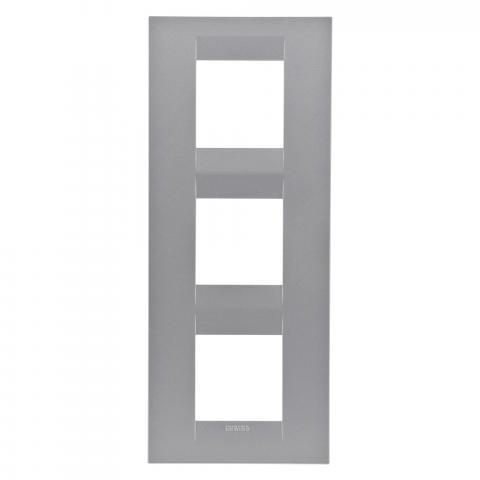 GEO International 2+2+2 gang vertical plate - Titanium