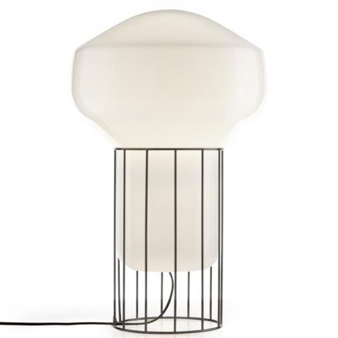 Настолна лампа H53cm Ø33cm черен хром
