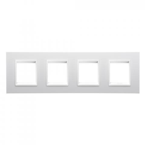 Рамка LUX International 2+2+2+2 хоризонтална - Monochrome Milk White