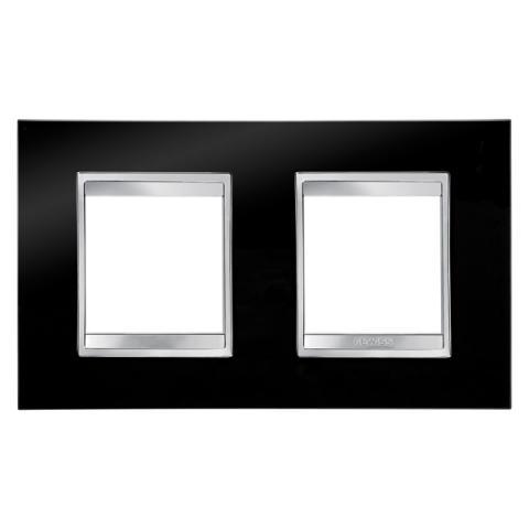 Рамка LUX International 2+2 хоризонтална - Toner Black