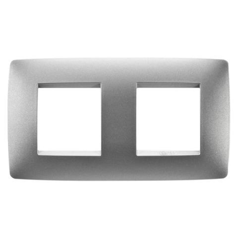 Рамка ONE International 2+2 хоризонтална - Titanium