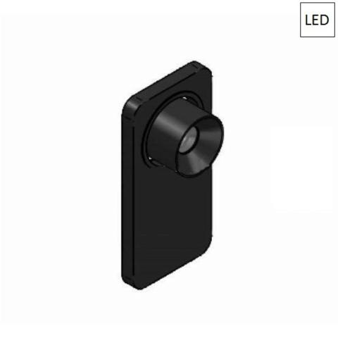 Wall/ceiling light 5W LED 3000K Black ON/OFF Switch