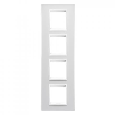 Рамка LUX International 2+2+2+2 вертикална - Monochrome Milk White