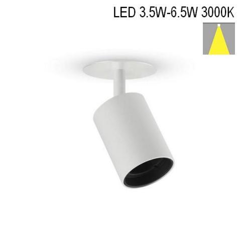 Spot NANOPERFETTO-R LED 3.5W/4.5W/6.5W 3000K white