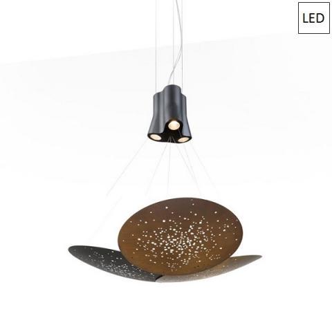 Пендел 3xØ60cm LED Многоцветен