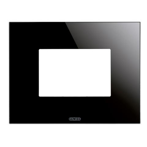 ICE plate - 3 gang - Glass - Black