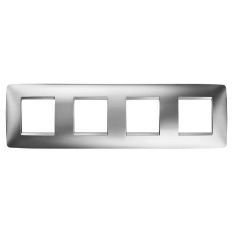 Рамка ONE International 2+2+2+2 хоризонтална - Chrome