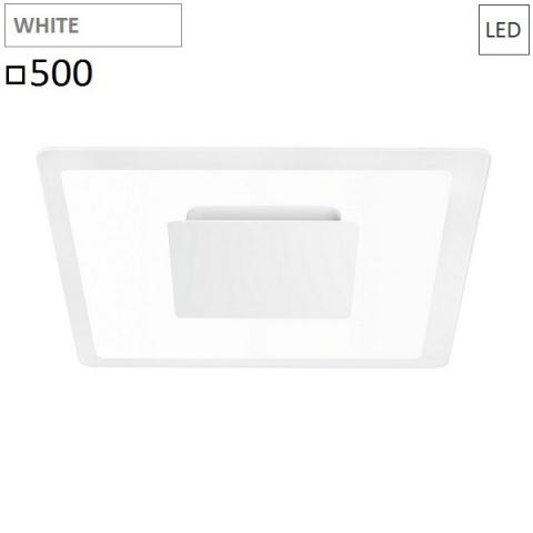 Wall/ceiling lamp 500x500 LED 40W white