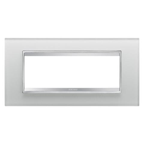 Рамка LUX 6 модула - стъкло - Ice