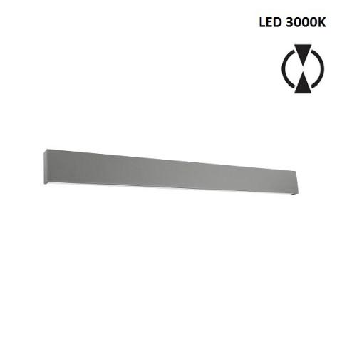 Аплик L - LED 28W 3000K - бетоново сив