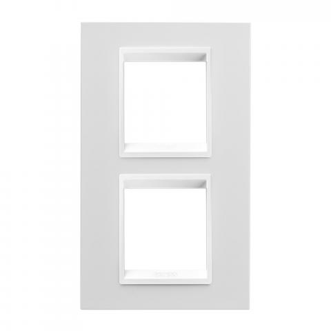 Рамка LUX International 2+2 вертикална - Monochrome Milk White