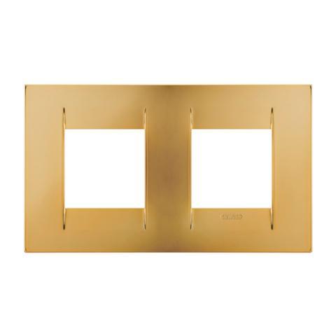 GEO International 2+2 gang horizontal plate - Gold