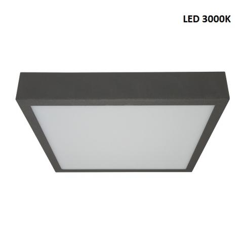 Ceiling light L - LED 25W 3000K - beton grey