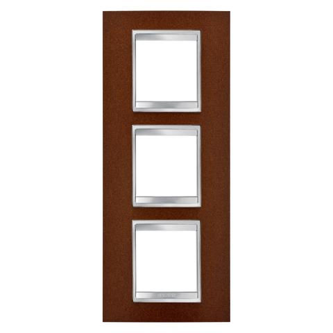 LUX International 2+2+2 gang vertical plate - Oxidised Finish