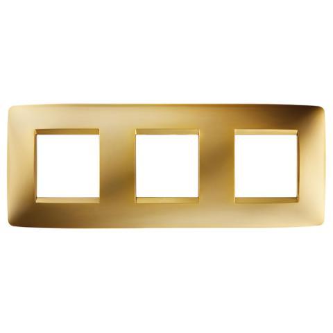 Рамка ONE International 2+2+2 хоризонтална - Gold