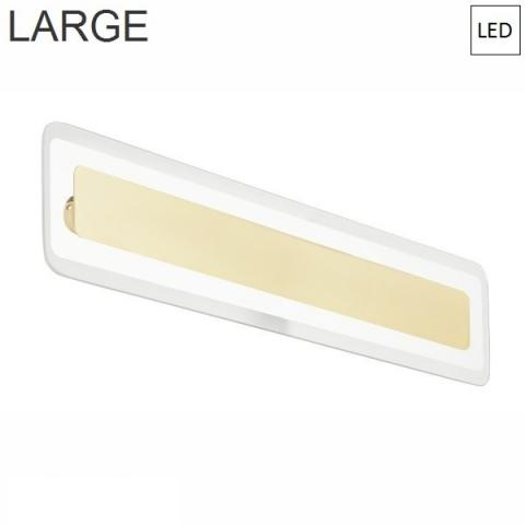Wall/ceiling lamp 614x135mm LED Gold - Transparent
