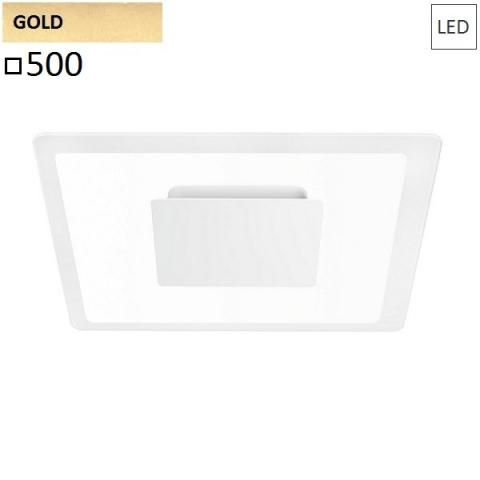 Wall/ceiling lamp 500x500 LED 40W gold