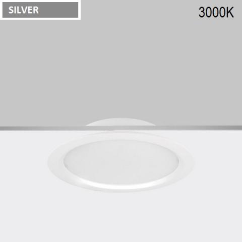 Downlight Ra 16 LED 18W 3000K silver