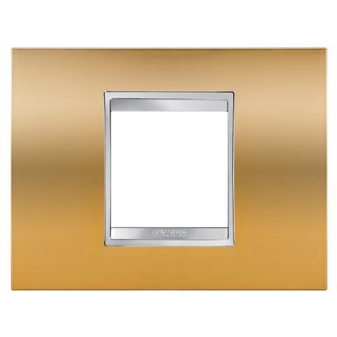 Рамка LUX 2 модула Gold