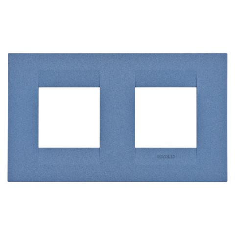 Рамка GEO International 2+2 хоризонтална - Sea Blue