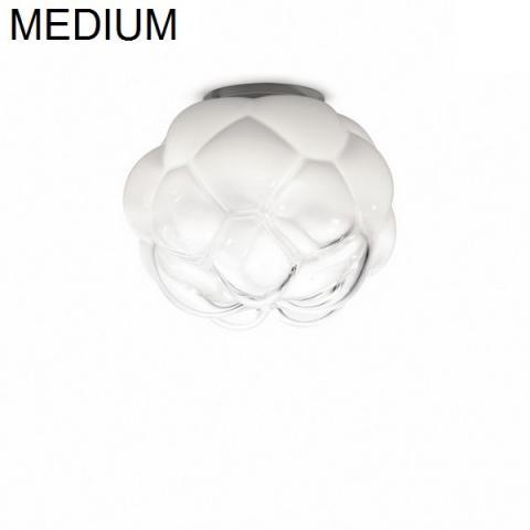 Плафон Ø40cm бял полупрозрачен