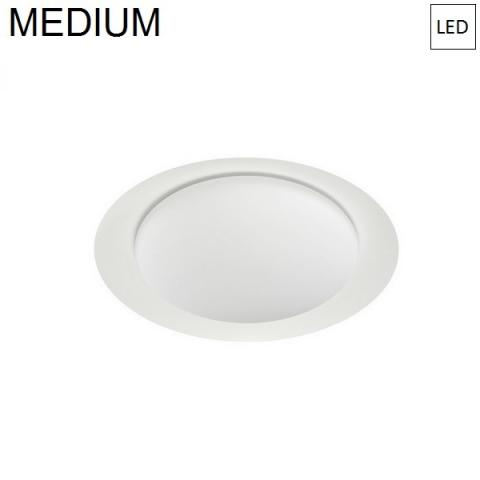 Плафон Ø386mm LED 17W 3000K бял