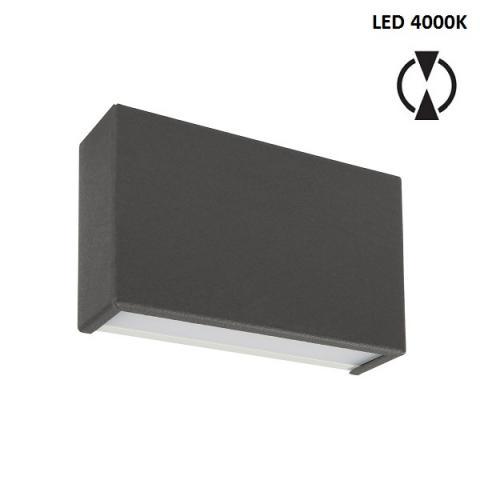 Аплик S - LED 10W 4000K - бетоново сив