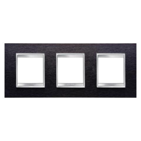 Рамка LUX International 2+2+2 хоризонтална - Black Aluminium