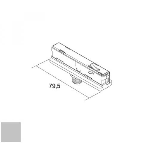 Electrical adapter for MM track, 6A, 5kg - silver