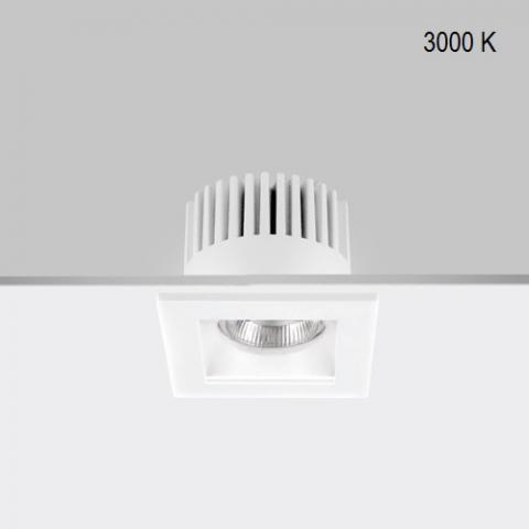 Fixed downlight RA 8 Q DIXIT LED 9W/12W 3000K IP44