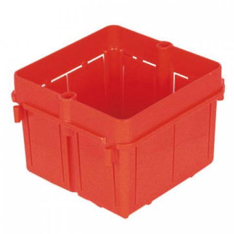 Square box 2 gang or masonry walls