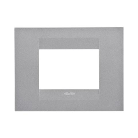 GEO plate 3-gang Titanium