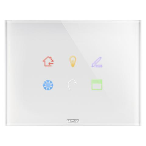 Plate ICE TOUCH KNX - 6 Touch zones - Glass - White